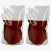 China Clear Standing Drinking Water 240ml Juice / Liquid Spout Bags With Top Cap wholesale