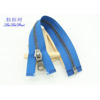 China Silver Brass Teeth 25 Inch Metal Separating Zipper Customized For Sweater / Coats wholesale