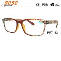 China Hot sale style of reading glasses with plastic frame ,printe the patterns wholesale