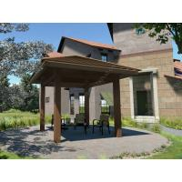 China WPC square gazebo kits for your garden 4m*4m /13ft.*13ft.*12ft.(OLDA-6001) wholesale