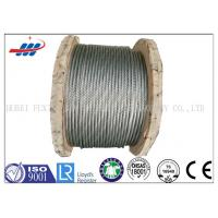 China Strong Galvanized Steel Wire Rope , Aircraft Grade Wire Rope Anti Rotation For Heavy Machinery wholesale