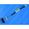 China Blue SFF 8643 To 4 SATA SAS Hard Drive Cable Fanout 12gbps Flexible Design wholesale