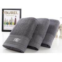 China Luxury 5 Star Hotel Bath Towels100% Cotton Light Black With Bamboo Fibre on sale