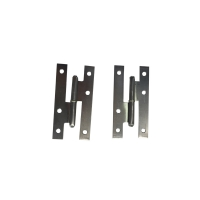 China Self Color Uppolished Iron Flat Tip 140mm H Hinges For Doors on sale