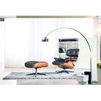China Classic Plywood Hotel Lounge Chairs And Ottoman Genuine Leather Material wholesale