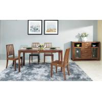 China Modern Style Contemporary Dining Room Furniture Classic Walnut Wood Color on sale
