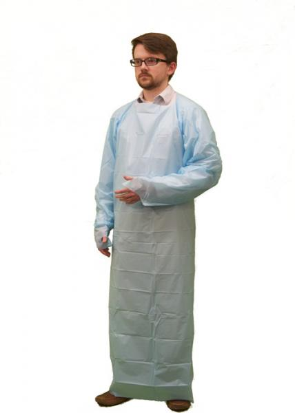 Quality CPE Fabric Disposable Isolation Gowns Waterproof Smooth Or Embossed for sale