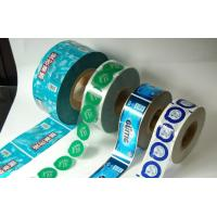 China Colorful Laminated Cookie Plastic Film Rolls , High Barrier Foil Film Rolls wholesale