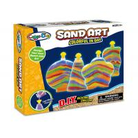 Buy cheap DIY Colorful Glitter Sand Arts And Crafts Toys Kit W / 4 Bottles For Age 5 Kids from wholesalers
