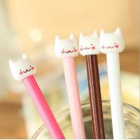 China customized yiwu stationery cat plastic ball-point pen office&school beautiful cheap funny pen on sale