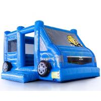 China Motor Vehicle Inflatable Jumpers Commercial 0.55mm Pvc Moon Bounce House on sale