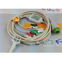 China 5 Leads Snap AHA ECG Patient Cable , Mindray 12 Pin One Piece ECG Cable wholesale
