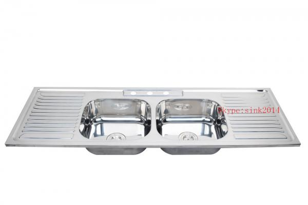 ... 15050D Double drainer double bowl industrial sink kitchen sink 2 bowl