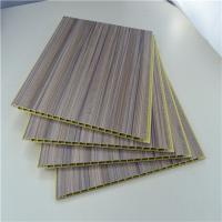 China Bamboo Fiber Integrated WPC Wall Panel , Decorative PVC Wood Plastic Composite Ceiling wholesale
