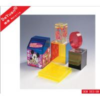 China Childhood Heated Bending Acrylic Holder Stand Box Display Transparent Yellow wholesale