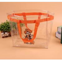 China Logo Printing PVC Gift Bags , Customized Clear PVC Tote Bag For Kids wholesale