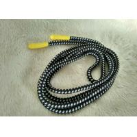 China Handmade Shiny Silicone Ending Rubber Zipper Puller With 3mm Polyester String wholesale