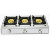 Stainless Steel Panel Table Top Gas Stove Three Burner With Big Fire Burner