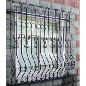Security Wrought Iron Window