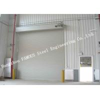 China Automatic High Speed Electric Roller Shutter Doors PVC Fabric Doors With Aluminium Frames wholesale