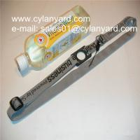 China Custom printed polyester neck lanyard with water bottle holder loop, wholesale