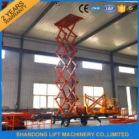 China 500kgs Hydraulic Hydraulic Lift Table Mobile Aerial Work Platform with 4 Wheels 8m Lifting Height wholesale