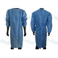 China Soft Disposable Protective Gowns , SMS Disposable Medical Gowns With 2 Waist Tie On / Neck Tie On on sale