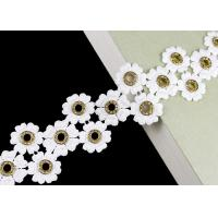 China Glitter Inlay Crystal Embroidered Diamond Nickle Eyelet Lace Trim Customized wholesale