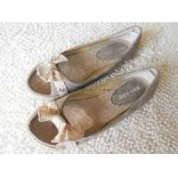 China Butterfly Lady Jute Shoes Espadrilles wholesale
