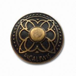 China 黄銅から旧式な真鍮のめっきのさまざまな服装のために成っている、近い上のジーンズ ボタン適した wholesale