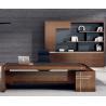 China 2018 hot sale luxury executive office desk wooden office desk on sale 2400*1200*750mm oak color wholesale