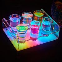China Wholesale led ice buckets for Color changeable LED 6/12-Bottle Shot Glass Bullet Cup drinkware Holder light up Wine rack wholesale