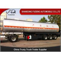 4 Inch Oil Outlet Diesel Fuel Tanker Semi Trailer With 5 Compartments