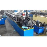China Roller Concrete Door Frame Roll Forming Machine / Aluminum Metal Window Frame Making Machine wholesale