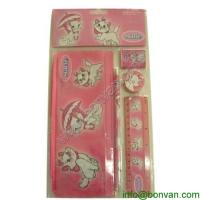 China The latest products office stationery set for kids,mini stationary set with pencil eraser wholesale