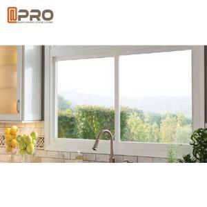 China Aluminium Frame Modern House Windows , 5 + 9 + 5mm Thickness Aluminium Glass Window on sale