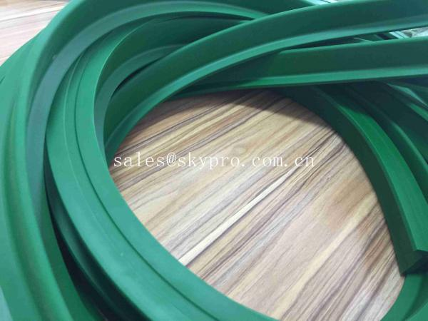 Quality Low Noise Food Grade Transmission Parts Anti-slip High Tensile Green Industrial Conveyor Belt Cleat for sale