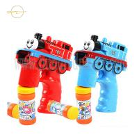 China Outdoor Light Up Bubble Blaster Train Shaped Bubble Blowing Toys For Toddlers wholesale