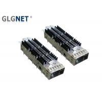 China 56G Ethernet Single Port QSFP28 Cage With Heat Sink Light Pipe EMI Tabs wholesale
