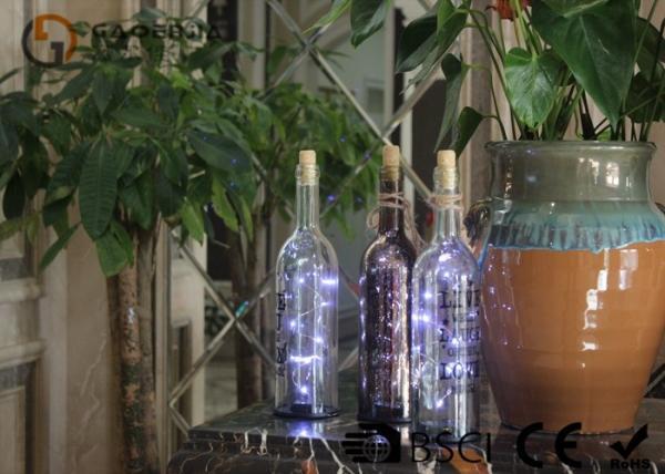 Quality la bouteille de vin en verre à piles avec les lumières menées font la fête le cadeau de décor ou la lumière de nuit for sale