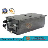 Casino Baccarat Poker Table Top 8 Deck Metal Discard Holder Box Install a baccarat table