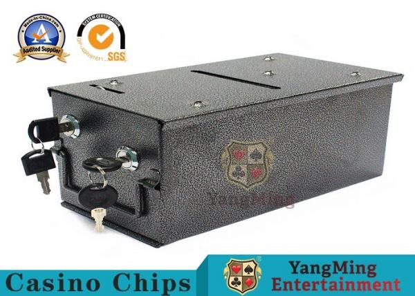 Quality Casino Baccarat Poker Table Top 8 Deck Metal Discard Holder Box Install a baccarat table for sale