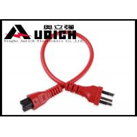 High Speed Three Prong AC Power Cable For Laptop Brazil Style Inmetro Standard