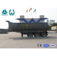 China 24 CBM 3 Axles U Shape Steel Tipper Semi Trailer with HYVA Cylinder on sale