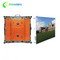 China Portable Outside LED Display Cabinet For Hire , 96X96 Slim P6 LED Display 192X192mm wholesale