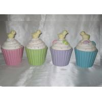 China Fashionable Ceramic Kitchen Canisters Hand Painted Easter Cupcake Trinket Box wholesale