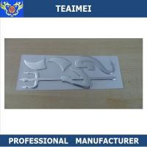 China Soft ABS Demon Logo Custom Automobile Emblems Car Side Body Stickers wholesale