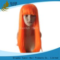 Buy cheap New Products Brazilian Hair Straight Orange Lace Wig Natural Hairline Full Lace Wig from wholesalers