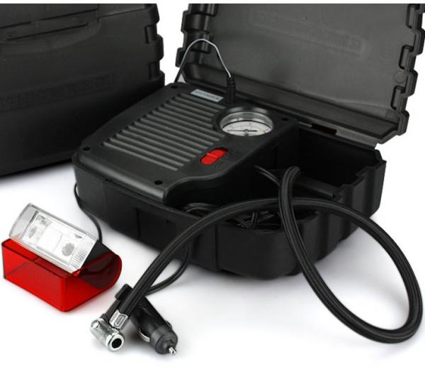 Quality Black High Power Car Air Compressor With Plastic Box One Year Warranty for sale