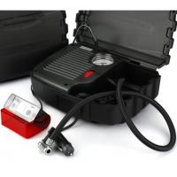 China Black High Power Car Air Compressor With Plastic Box One Year Warranty wholesale
